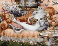 """Картины по номерам """"Дом белой кошки"""" 40х50см, С Коробкой"""
