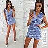 Костюм модный стильный жилет с поясом и шорты в полоску 6Db1057
