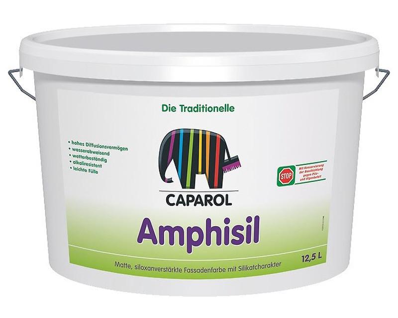 Фарба силіконізований CAPAROL AMPHISIL фасадна, B1-біла, 12,5 л