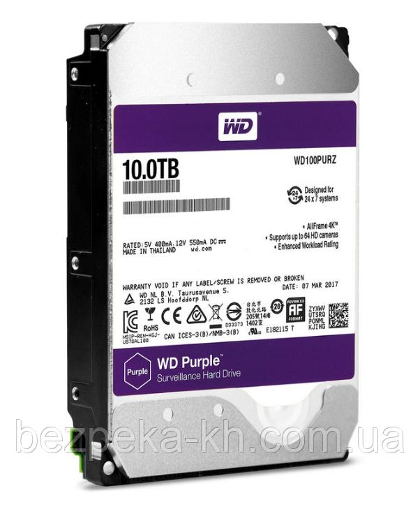 "Жорсткий диск 3.5"" SATA 10Tb WD Purple WD102PURZ"