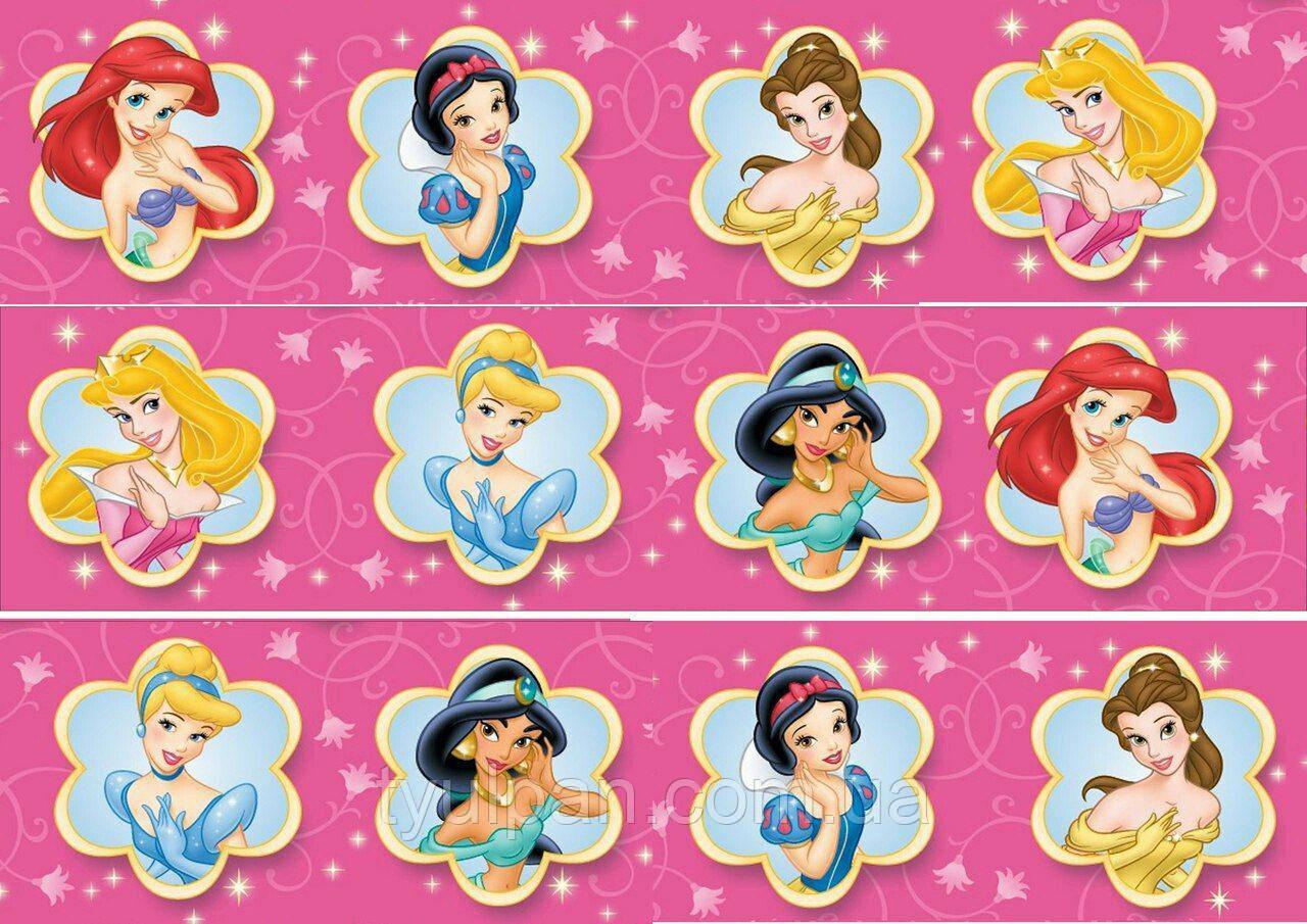 Вафельные картинки принцессы