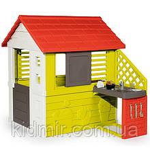 Садовий будиночок дитячий ігровий з літньою кухнею Floralie Nature Smoby 810702