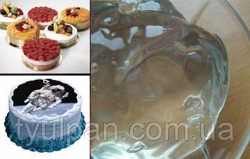 Декор гель для покрытия вафельной картинки и фруктов тортов 500г