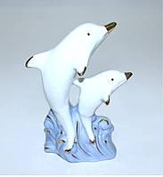 """Фарфоровая статуэтка """"Пара дельфинов"""""""