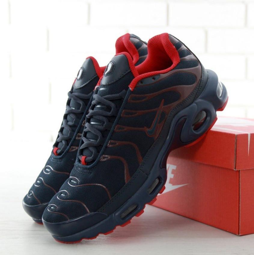 78d4ad7b28d06f Кроссовки в Стиле Nike Air Max TN Plus Dark Blue/Red Мужские — в ...