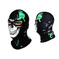 Балаклава-череп Radical Subskull (original) черно-бело-зеленая