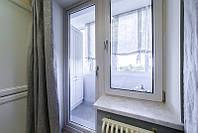 Балконный блок металлопластиковый окна на балкон лоджию Рехау Бриллиант Rehau Brillant, фото 1