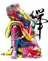 """Раскраски по номерам """"Будда"""" 40х50см, С Коробкой"""