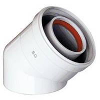 Колено коаксиальное 45° для газовых котлов Baxi, Westen