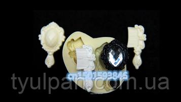 Молд силиконовый для пластики  косметичка -расчески