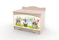 Ящик для игрушек Совы в детскую комнату ТМ Вальтер-С Y-1.64
