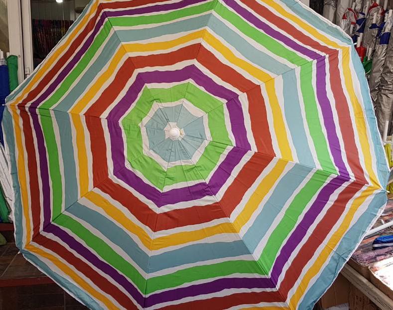 Зонт пляжный 1.5 м с наклоном и напылением