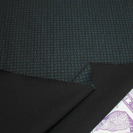 Трикотаж Алекс (джерси) принт D-10-5 черный, фото 2