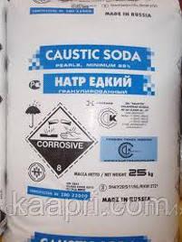 Сода каустическая гранулированная,99%, в мешках по 25 кг. Производство  Россия