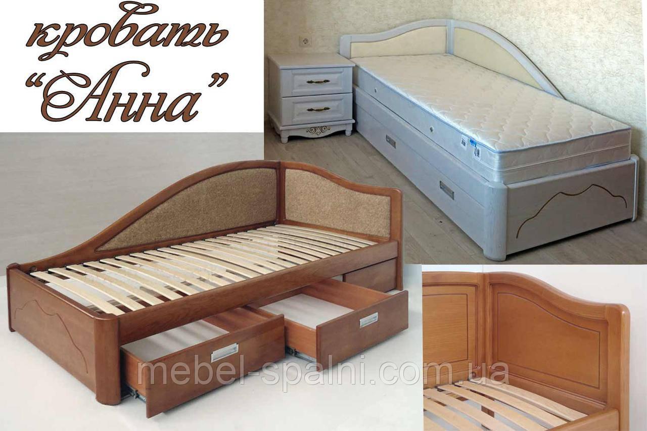 """Кровать односпальная деревянная c ящиками """"Анна"""" kr.an4.2"""