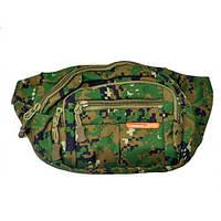 Тактическая сумка на пояс N02225 Pixel Green