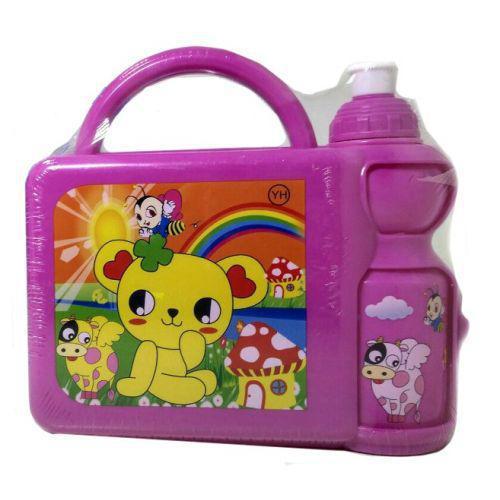 Набор для ланча детский (бокс+поилка) J00148 Pink
