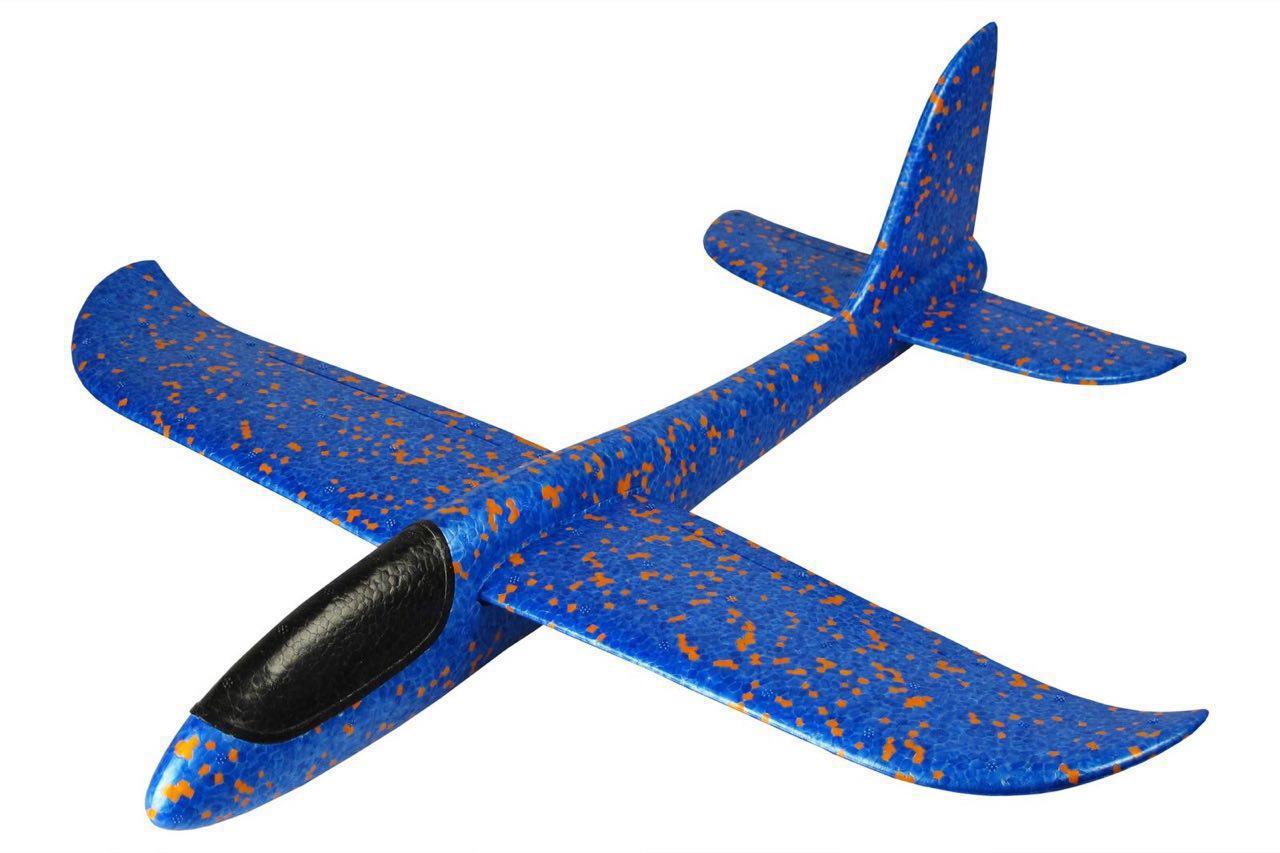 Детский светящийся самолет планер 48 см
