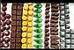 Поликарбонатная форма для шоколадных конфет квадрат  №102, фото 2