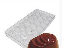 Пралине поликарбонатная форма для шоколадных конфет
