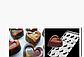 Сердце в сердце поликарбонатная форма для шоколадных конфет, фото 2