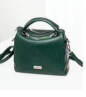 Небольшая женская сумка. Молодежные сумки. Зеленая КС76-1