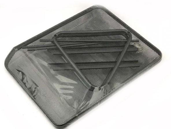 Лоток для бумаг горизонтальный 2 отделения металлический черный