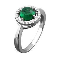 Серебряное кольцо с круглым камнем