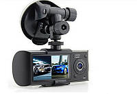 Автомобильный видеорегистратор DVR R300 GPS на две камеры, фото 2