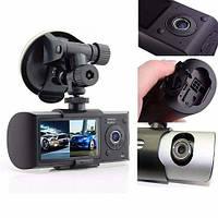 Автомобильный видеорегистратор DVR R300 GPS на две камеры, фото 3
