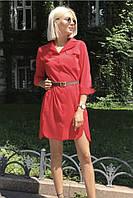 Женское коттоновое платье- рубашка, в расцветках. ОС-1-0618, фото 1