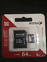 Карта памяти Micro SD Neeka 64GB