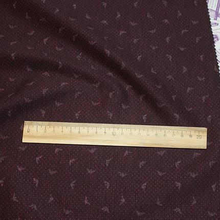 Трикотаж Алекс (джерси) принт D-26-3 бордовый, фото 2