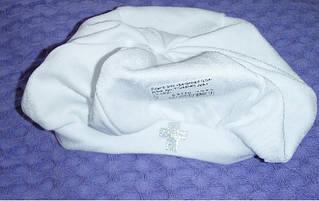 Берет для хрещення, інтерлок. Зріст 80-50(р)