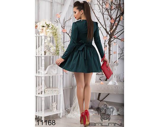 Зеленое короткое платье с пышной юбкой, фото 2