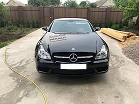 Замена решетки радиатора на Mercedes CLS w219 (хром) 2