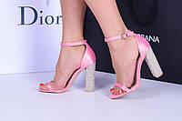 Босоножки розовая мечта каблук камни код 20979, фото 1