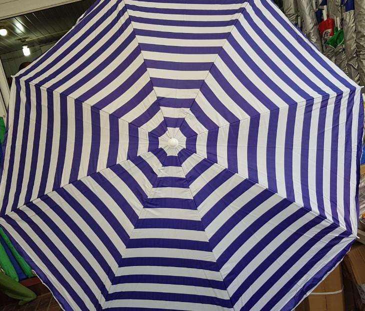 Зонт пляжный 1.5 м с наклоном и напылением и клапаном