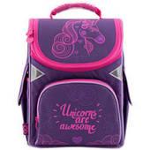 "Школьный каркасный рюкзак GoPack GO18-5001S-7 ""Unicorns are Awesome"" (34-26-13 см)"