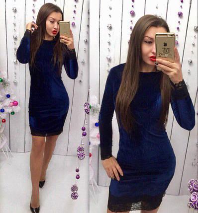 Бархатное платье с кружевом «Софи», фото 2