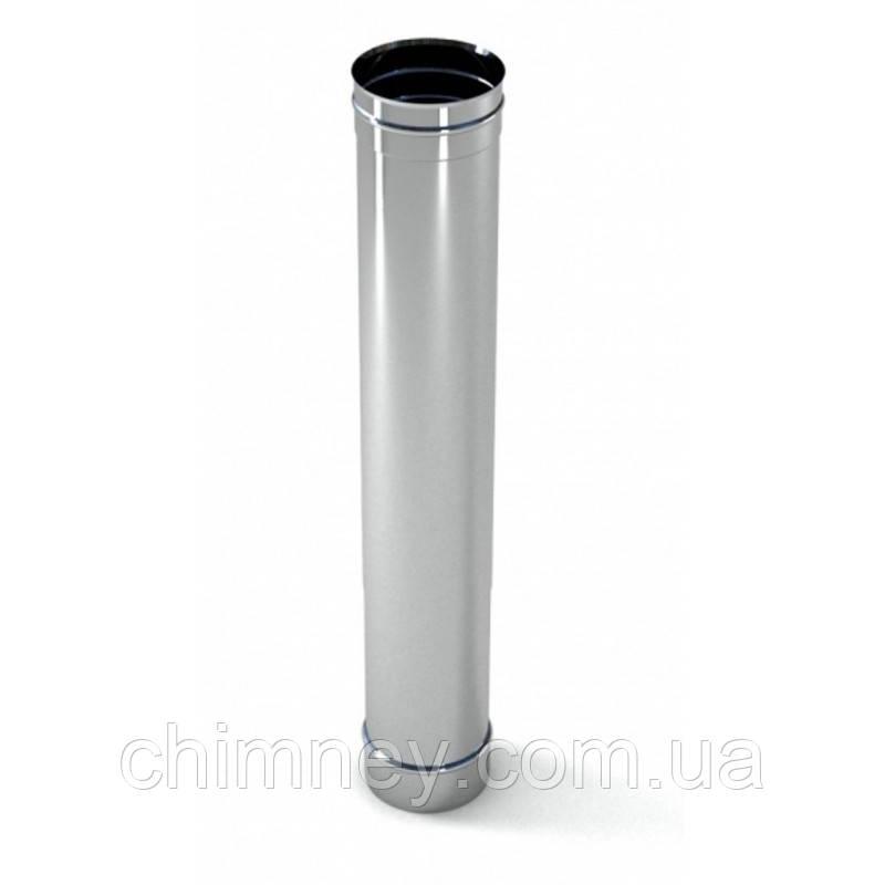 Димохідна труба димохідна 130мм товщиною 1,0 мм/304