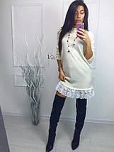 Ангоровое платье с кружевом «Heather», фото 3