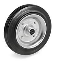 Колесо 200x50 сталь/черная резина, роликовый подшипник