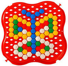 "Игрушка разв. ""Мозаика"", 130 эл., мини, 18*17см, ТМ Wader(100шт)"