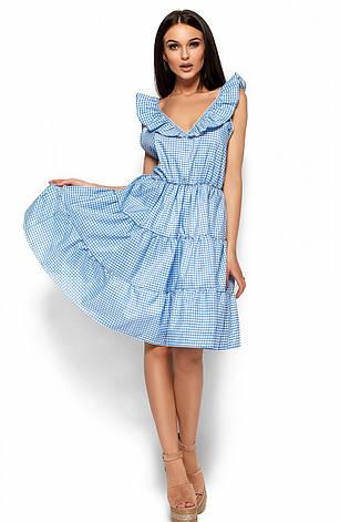 Женское платье с открытой спиной, голубое, р.42-48, фото 2