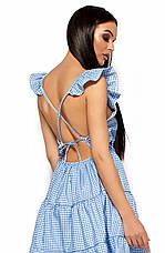 Женское платье с открытой спиной, голубое, р.42-48, фото 3