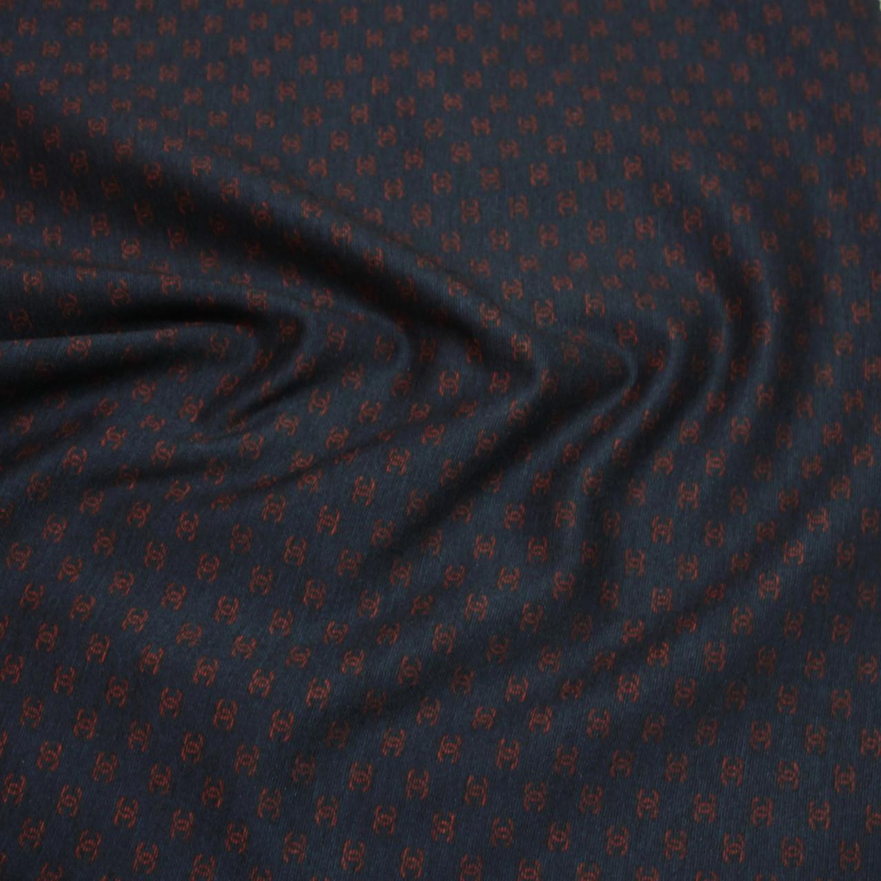 Трикотаж Алекс (джерси) принт D-27-2 темно-синий