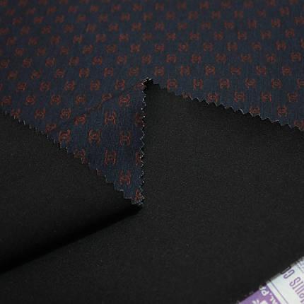 Трикотаж Алекс (джерси) принт D-27-2 темно-синий, фото 2