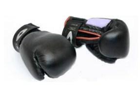Боксерские перчатки кожаные 8 унций на липучке. Для детей от 10 лет.