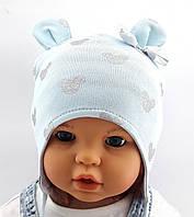 Трикотажная шапка детская Польша 45-50 см Двойная (ШД37)